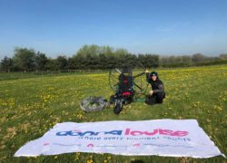 Staffordshire estate agent to set a new record with a death-defying flight by paramotor to raise £10k for The Donna Louise Hospice